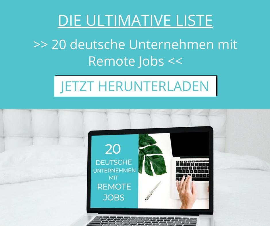 Freebie_20 deutsche Unternehmen mit Remote Jobs