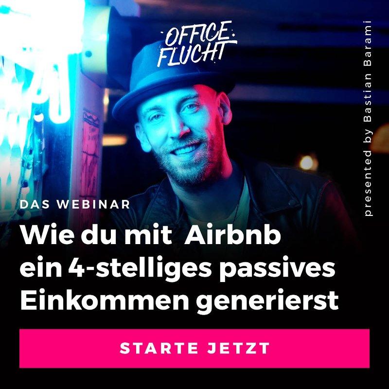 Webinaranmeldung für den Airbnb Kurs von Bastian Barami von Officeflucht_Mit Airbnb um die Welt