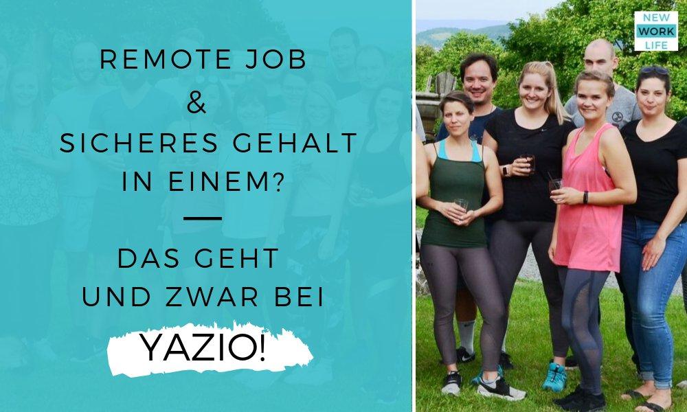 Sicheres Einkommen und Remote Job_Das geht und zwar bei YAZIO