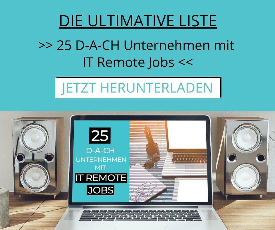 Freebie_25 D-A-CH Unternehmen mit IT Remote Jobs